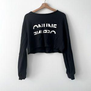 Crop sweatshirt | black crop tshirt